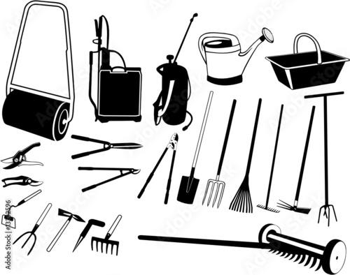 Outils de jardin fichier vectoriel libre de droits sur for Dessin outils jardinage