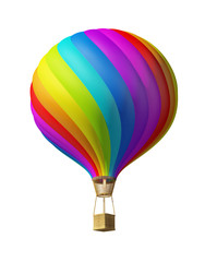 Isolated colorful hot air ballon