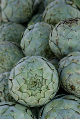 artichokes at farmers market