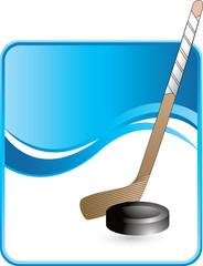 classy hockey puck and stick