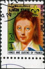Ajman States. Louis XVII. Roi de France. Timbre Postal.