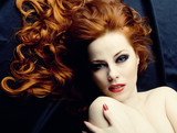 Redhead sensuality poster