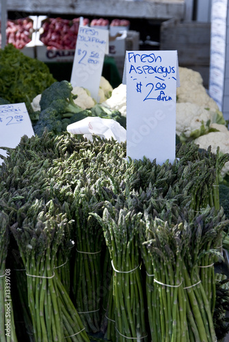 asparagus for sale at farmers market