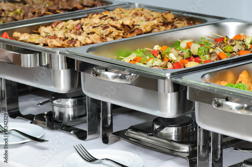 Foto op Aluminium Assortiment banquet table