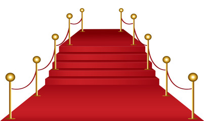 Red carpet  and stairs concept