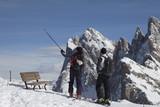 Aussicht in den Dolomiten im Winter poster