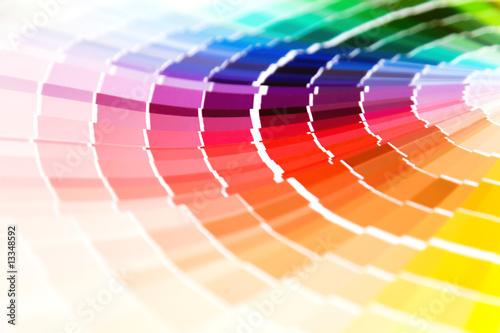 Leinwandbild Motiv color guide close-up
