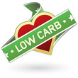 Low carb food label or stocker for packaging, web, or print