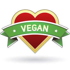 Vegan food product label sticker - vector
