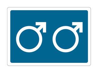 gay man blue sign