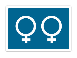 lesbian blue sign