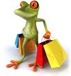 Grenouille et shopping