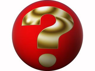 Button goldenes Fragezeichen
