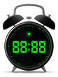 Classic alarm clock with digital display