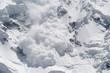 canvas print picture - snow avalanche..