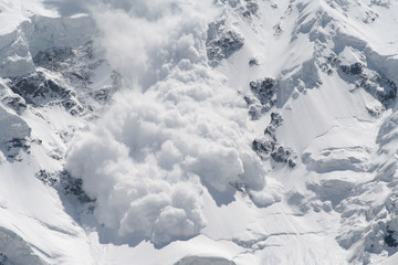 snow avalanche..