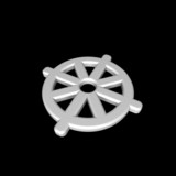 White Buddhism symbol. poster