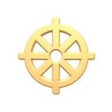 Gold Buddhism symbol. poster