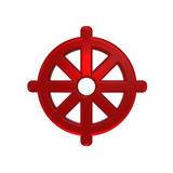 Ruby Buddhism symbol. poster
