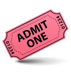 Admit one pink ticket
