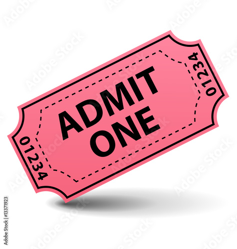 Admit one pink ticket