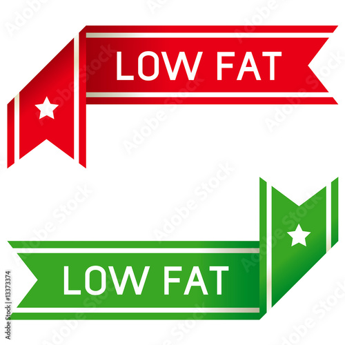Low fat food label corner sticker