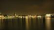 Innenstadt Hamburg an der Innenalster bei Nacht HDR