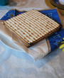 Matzot Laid Out at Traditional Passover Holiday Seder