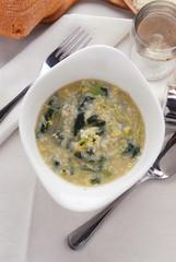 Minestra di riso con bietola e uovo - Primi piatti Lombardia