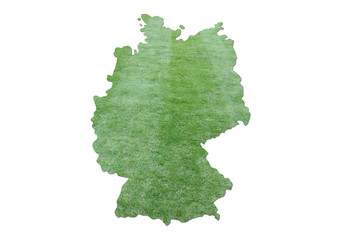Germany cut grass map