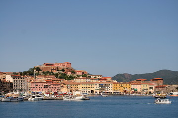 Porto Ferraio, Hafen auf der Insel Elba, Toskana, Italien,
