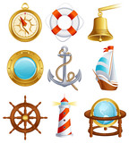 Sailing icon poster