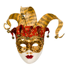 carnival venetian mask with bells
