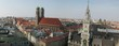 skyline of munich with frauenkirche and marienplatz , germany