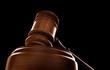 judges court gavel on a black background