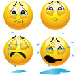 Sad smiling balls
