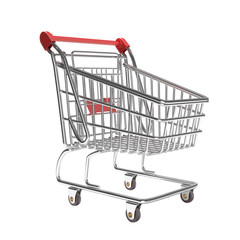 isolated empty shopping cart
