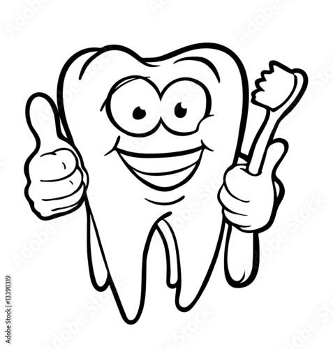 tooth with toothbrush von bertold werkmann lizenzfreier