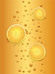 Slices of lemon in tea