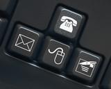 Contact keys on keyboard