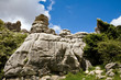Breautiful view of nature reserve El Torcal