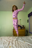 Jumping on a bed