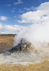 Hot mud pools iceland scandinavia Europe geothermal vulcanic