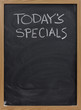 todays specials on blackboard in vertical