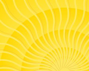 Bright yellow wavy sun ray light burst