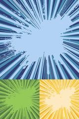 Sunburst Rays with Splatter Texture Vector