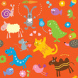 roleta: Seamless pattern for kids