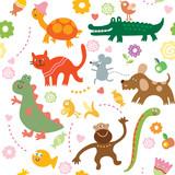 Fototapety Seamless pattern for kids