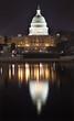 US Capitol Night Washington DC with Reflection
