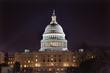 US Capitol Dome Houses of Congress Night Washington DC